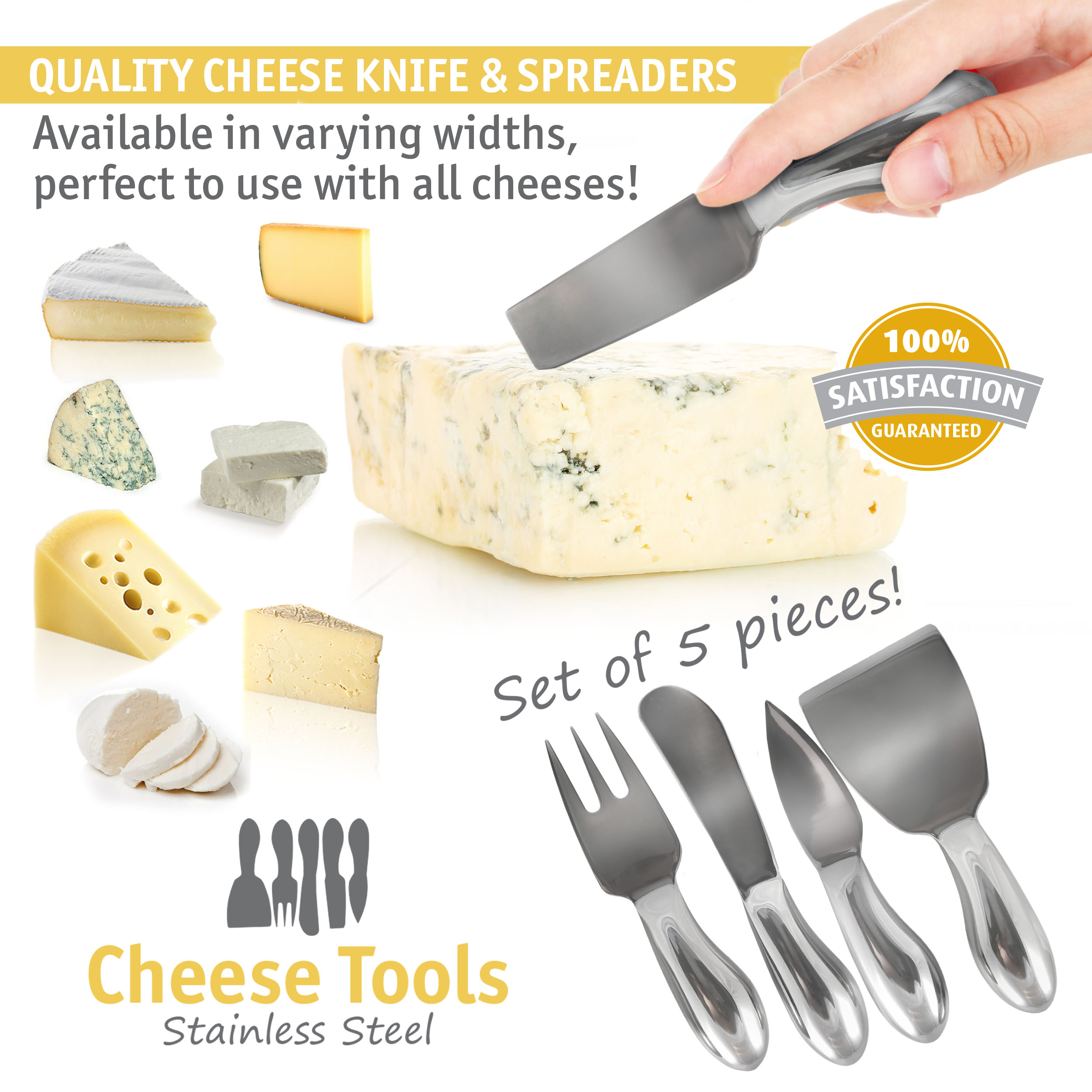 Cheese Knives Set Stainless Steel